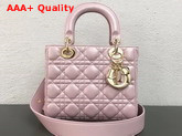 Dior My ABCDior Bag in Pearl Pink Cannage Lambskin Replica