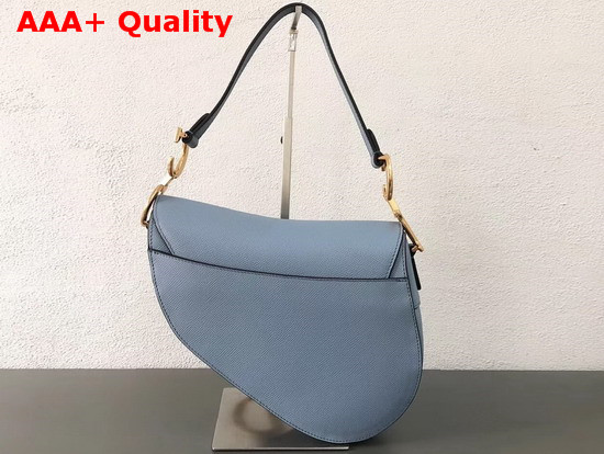 Dior Saddle Bag in Sky Blue Embossed Grained Calfskin Replica