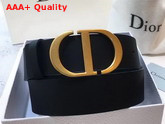 Dior Saddle Belt in Black Calfskin Replica