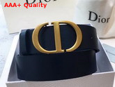 Dior Saddle Belt in Navy Blue Calfskin Replica