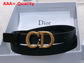 Dior Saddle Calfskin Belt in Black Replica