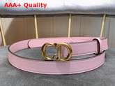 Dior Saddle Calfskin Belt in Pink Replica