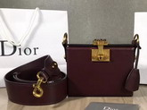 Dior Small Dioraddict Lockbox Bag in Smooth Amaranth Coloured Calfskin For Sale
