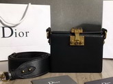 Dior Small Dioraddict Lockbox Bag in Smooth Black Calfskin For Sale