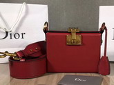 Dior Small Dioraddict Lockbox Bag in Smooth Red Calfskin For Sale