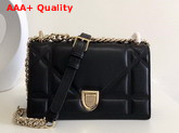 Dior Small Diorama Bag in Black Quilted Lambskin with Large Cannage Motif Replica