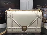 Diorama Bag in Beige Studded Lambskin For Sale