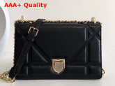 Diorama Bag in Black Quilted Lambskin with Large Cannage Motif Replica