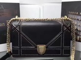 Diorama Bag in Black Studded Lambskin For Sale