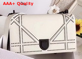 Diorama Bag in White Studded Matt Calfskin with Archicannage Motif Replica