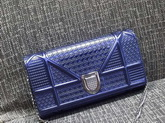 Diorama Wallet On Chain Pouch Metallic Blue for Sale