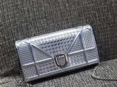 Diorama Wallet On Chain Pouch Metallic Silver for Sale