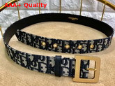 Diorquake Dior Oblique Belt in Blue Dior Oblique Jacquard Canvas Replica