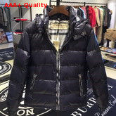 Burberry Down Filled Hooded Puffer Jacket in Black Replica