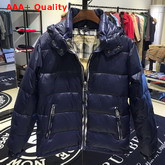 Burberry Down Filled Hooded Puffer Jacket in Blue Replica