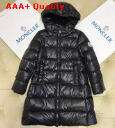 Moncler Kids Long Down Jacket Black Replica