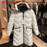 Moncler Womens Long Down Jacket in White Replica