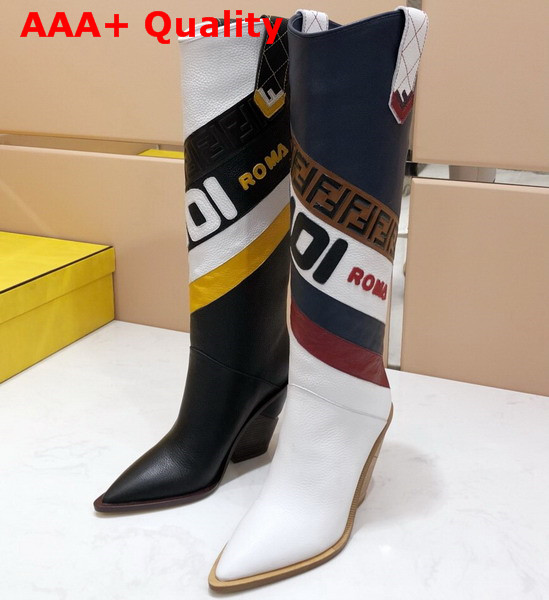 f934f178797 Fendi High Leg Cowboy Boots Black Replica-Replica Fendi High Leg ...