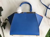 Fendi Mini 3Jours in Blue Calf Leather For Sale