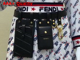 Fendi Multi Accessory Belt Bag in Black Calf Leather Replica