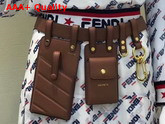Fendi Multi Accessory Belt Bag in Brown Calf Leather Replica