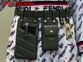 Fendi Multi Accessory Belt Bag in Green Calf Leather Replica