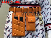 Fendi Multi Accessory Belt Bag in Orange Calf Leather Replica