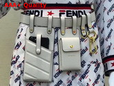 Fendi Multi Accessory Belt Bag in White Calf Leather Replica