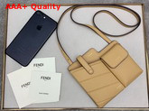 Fendi Two Pocket Mini Bag Beige Leather Replica