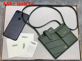 Fendi Two Pocket Mini Bag Green Leather Replica