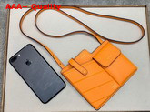 Fendi Two Pocket Mini Bag Orange Calf Leather Replica