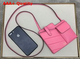 Fendi Two Pocket Mini Bag Pink Leather Replica