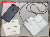 Fendi Two Pocket Mini Bag White Leather Replica