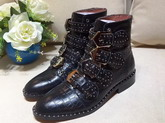 Givenchy Elegant Studs Ankle Boots in Black Croc Print Calfskin For Sale