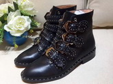 Givenchy Elegant Studs Ankle Boots in Black Smooth Maremma Leather For Sale