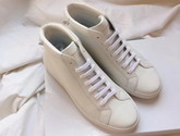 Givenchy Leather Lace Up Boots in White Box Leather For Sale