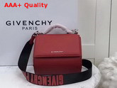 Givenchy Mini Pandora Box Bag in Red Calfskin Leather Replica