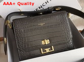 Givenchy Small Eden Bag in Storm Gray Crocodile Effect Leather Replica
