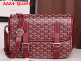 Goyard Belvedere MM Messenger Bag Burgundy Replica