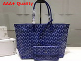 Goyard The Damona Millesime Marquage Shopping Bag in Blue Replica