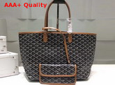 Goyard The Damona Millesime Marquage Shopping Bag in Brown Replica