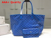 Goyard The Damona Millesime Marquage Shopping Bag in Light Blue Replica