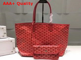Goyard The Damona Millesime Marquage Shopping Bag in Red Replica