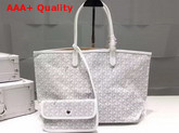Goyard The Damona Millesime Marquage Shopping Bag in White Replica