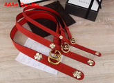 Gucci Clover Belt with Double G Buckle Replica