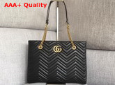 Gucci Gg Marmont Matelasse Medium Tote in Black 524578 Replica 524578