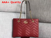 Gucci Gg Marmont Matelasse Medium Tote in Red 524578 Replica 524578