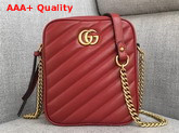 Gucci GG Marmont Mini Shoulder Bag in Red Matelasse Leather 550155 Replica 550155