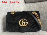 Gucci GG Marmont Velvet Mini Bag in Black Velvet Replica