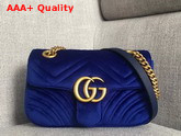 Gucci GG Marmont Velvet Mini Bag in Cobalt Blue Velvet Replica